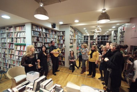 The Cocktail Party performing in the London Review Bookshop
